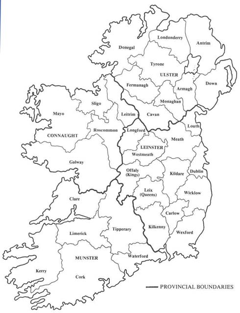 Map Of Ireland Drawing.Map Of Ireland Counties